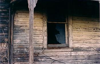Broken Window in an old house
