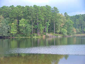 Lake at Daingerfield State Park, Texas