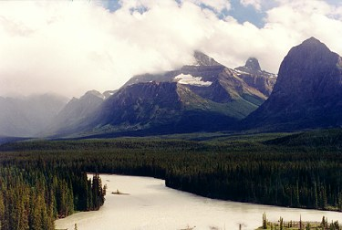 Valley in the Canadan Rockies