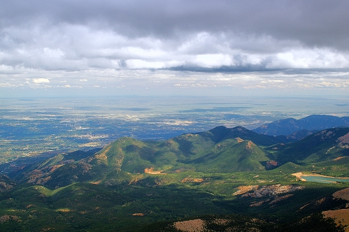 Photo taken for the top of Pikes Peak, CO