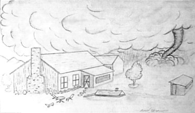 scetch by Basil Frasure, ab1959